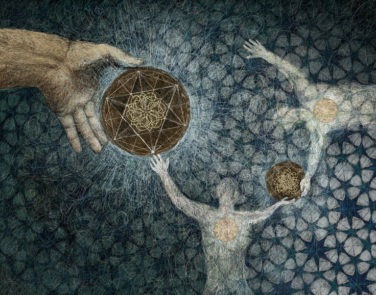 """love this artwork by john dilworth. """"the creation knot"""""""