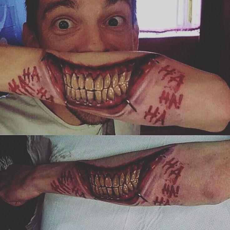 Cool?  Or too frightening ?? #teeth #dental #dentistry #dentist #whitening #invisalign #smile #makeovers #cosmetic #whitening #bridge #esthetic #healthy #quickfix #dentistry #anatomy #dentist #tooth #dentista #dentalstudent #hygiene #dentalschool #instateeth #odonto #tattoo #instatattoo #joker #jaredleto #suicidesquad
