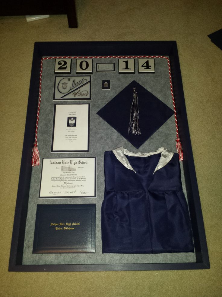 Jazzy's Graduation Shadow Box. Work in progress, putting in glass this weekend! But not a word-its a surprise!