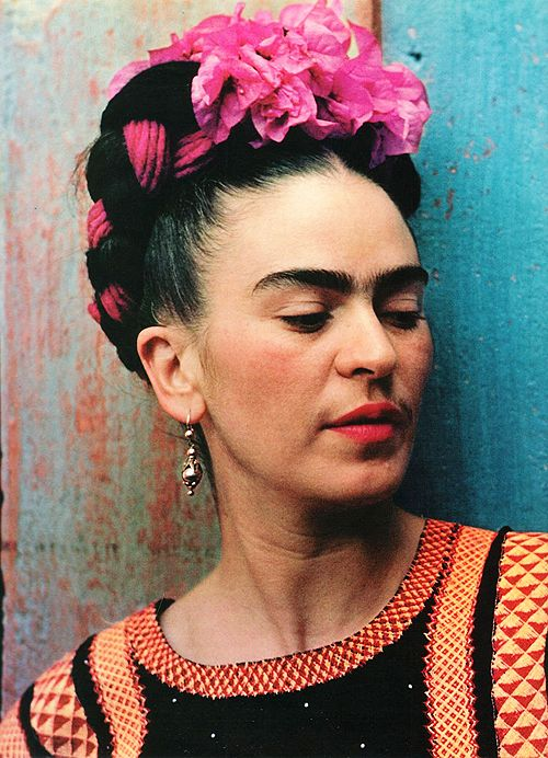 Frida, one of my favorite artists. She paints her life which was, at times, physically painful and lonely