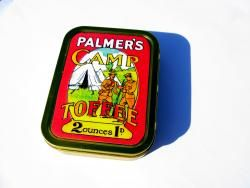 WW1 Food Rations Labels : Palmers Camp Toffee tin