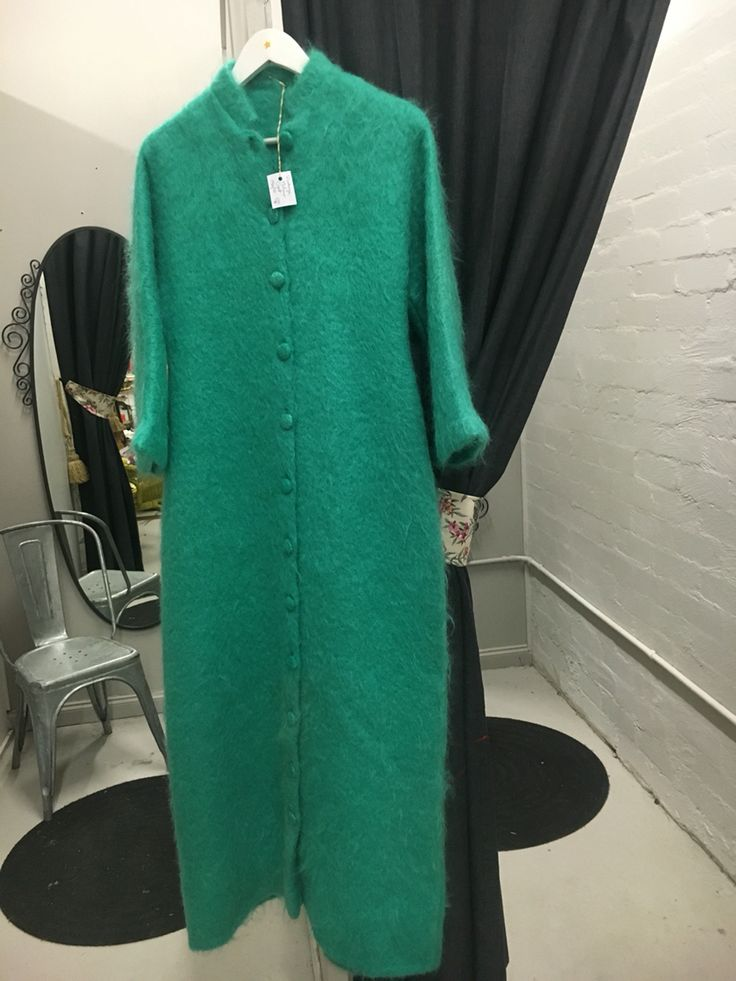 Vintage 1960's Mohair full length coat $180 at Preloved Tecoma.