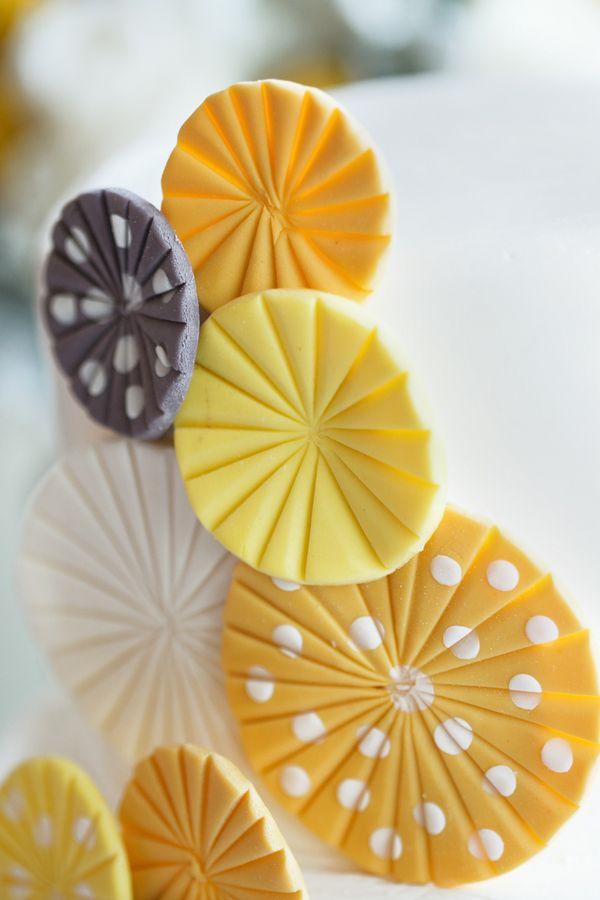 Modern Wedding Cake - Modern Yellow & Grey Waterfront Tampa Wedding - Carrie Wildes Photography