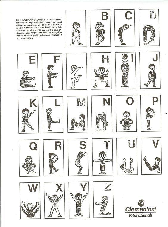 maak het alfabet met je lichaam - Google zoeken