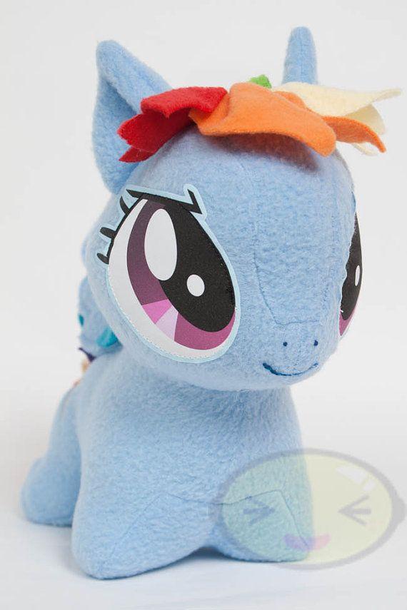 Chibi Rainbow Dash MLP HandMade Custom Craft Plush by CutieCorral, $65.00