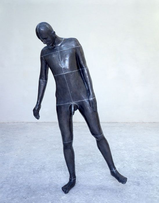 "Antony Gormley [UK] (b 1950) ~ ""SCALE"", 1994. Lead, fiberglass and air (185 x 100 x 60 cm).   #art #sculpture #figurative"