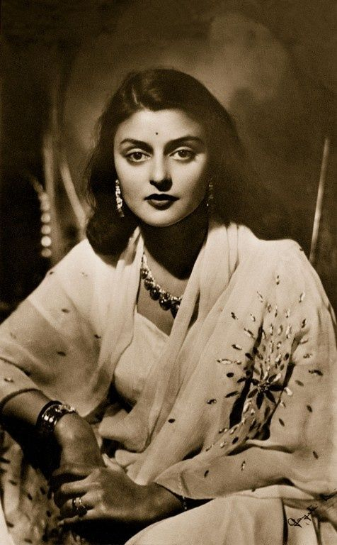 Maharini Gayatri Devi. Born Princess Gayatri Devi of Cooch Behar. At 21, she became the third wife of the dashing Maharaja of Jaipur. After India's independence and abolition of the princely states, she entered into a very successful political career, working hard for education reform, especially for girls. Vogue once named her one of the wirkd's most beautiful women.