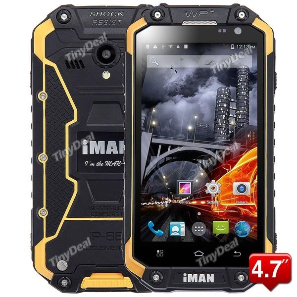 "IMAN I6 4.7"" MTK6592 8-core Android Unlocked 3G Phone IP68 Waterproof Dust Proof Rugged Phone P084-IMI6"