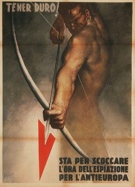 Gino Boccasile. Tener Duro! 1944