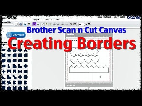 How to create die cut borders for your Brother Scan n Cut.  We have plenty more Brother Scan n Cut Tutorials.