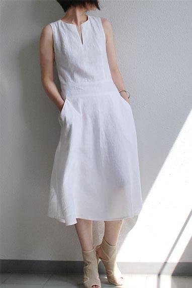 b506023c6f white linen dress for women