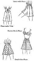 Las variaciones de pantalones cortos plisados rectas