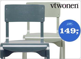 deze stoeltjes passen misschien wel erg goed bij de kleur op de wand, maar kan ik niet zo goed zien.. vind het ook wel mooie strakke stoelen en nu dus in de aanbieding.. ;-)