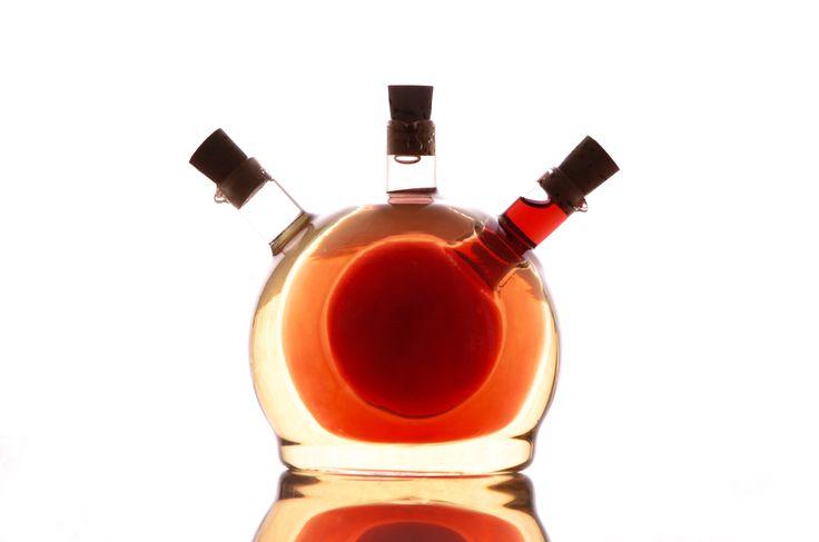 Cruet Trio #cruet #kitchen #accessories #oliveoil #vinegar #design #bottle