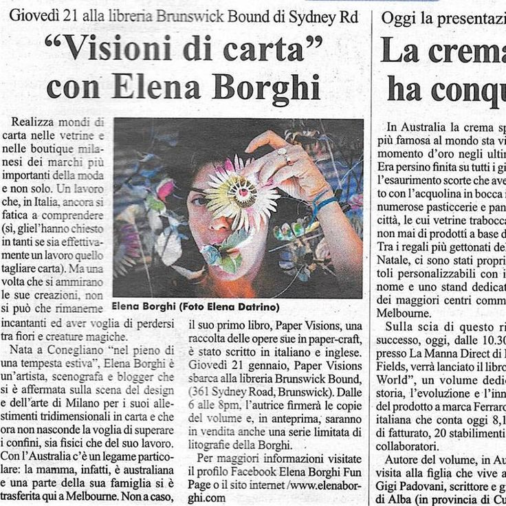 PAPER VISIONS goes to Melbourne! Thanks to IL GLOBO journal