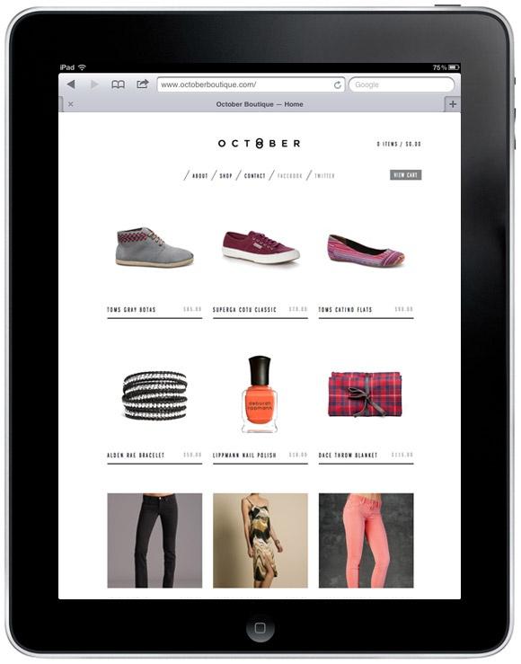 Online Shop Design /  October Boutique