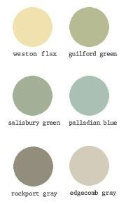 Benjamin Moore Paint Swatches -Historical Collection---weston flax for the kitchen!!!