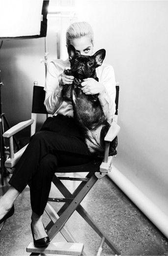 Lady Gaga, a nova garota-propaganda da Tiffany, com Asia, o seu cachorro