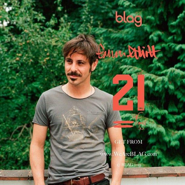 #EmunElliott #outtake from #BLAG's 21st Birthday Edition. Get yours at www.WeAreBLAG.com Emun wears the #BLAG #Ship #tshirt #Filth #