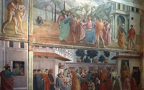 Мазаччо,Мазолино и др.  Росписи в капелле Бранкаччи. 1426-82 гг.