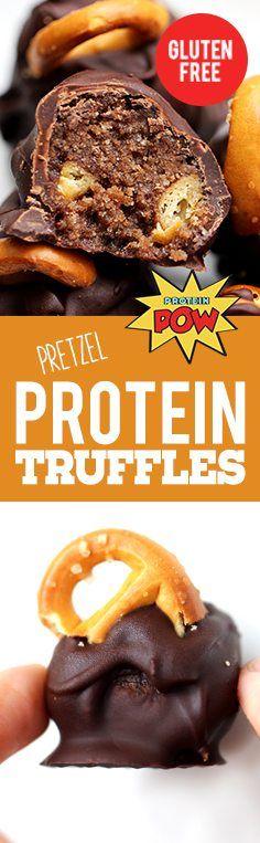 Dark Chocolate and Pretzel Protein Truffles - Protein Pow