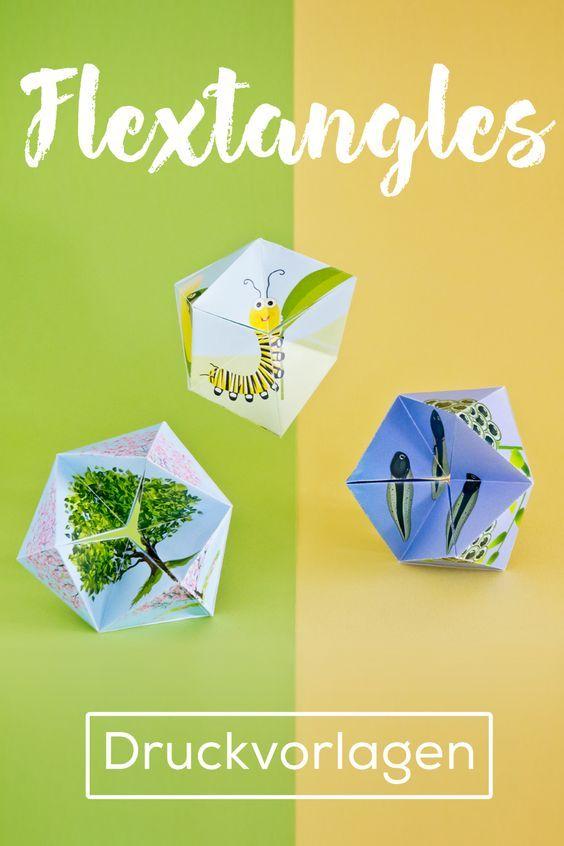 Flextangles: 4 Vorlagen mit schönen Motiven zum Ausdrucken