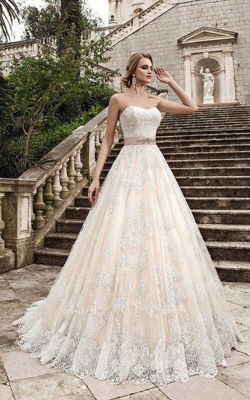 Vintage Sweetheart Sleeveless Wedding Dress Appliques Bridal Gown Beads Sash Vestidos De Novia Boda Civil Vestido Novia Vestidos De Novia Princesa