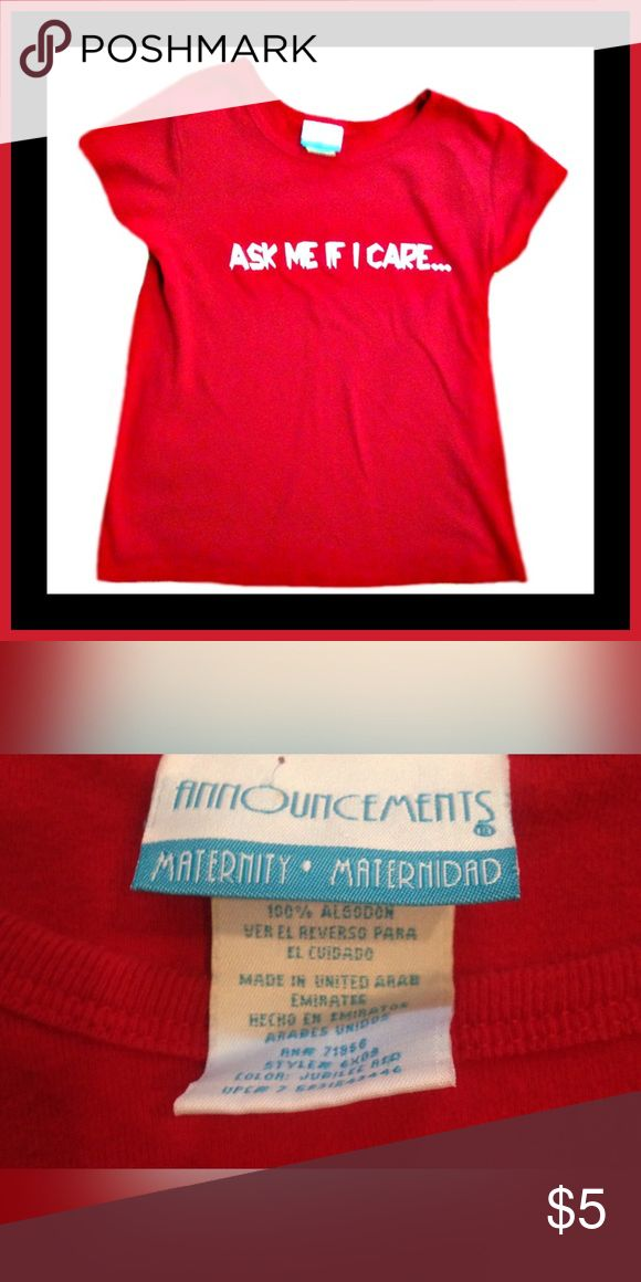 ❤️MATERNITY ANNOUNCEMENTS  Shirt❤️ Gently used MATERNITY ANNOUNCEMENTS short sleeve shirt; Size small Maternity Announcements Tops Tees - Short Sleeve