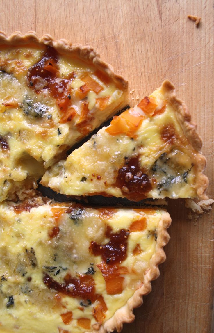 Stilton, Butternut Squash, Apple, Pear & Fig Quiche (V)
