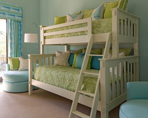 250 best images about bunk rooms on pinterest ladder for Bunk bed with full on bottom