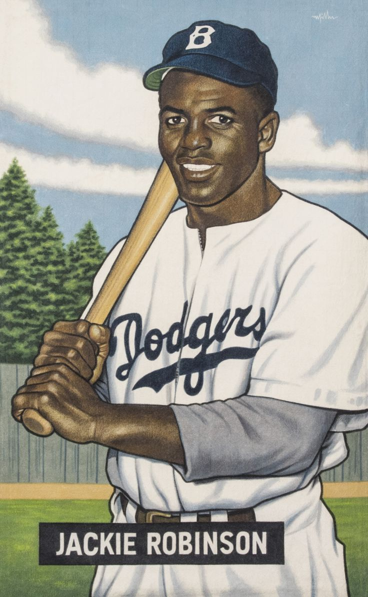"""A Baseball Card That Never Was,"" Jackie Robinson, Dodgers (1951 Bowman)"" by Arthur K Miller, 2014.jpeg"
