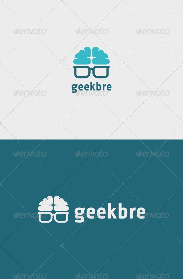 Geek Brain Logo — Vector EPS #think #brain • Available here → https://graphicriver.net/item/geek-brain-logo/7162371?ref=pxcr