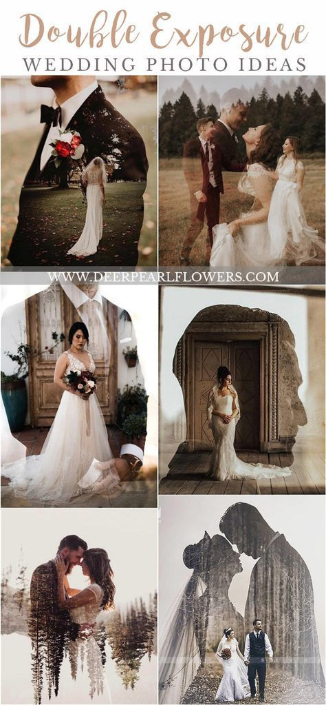 Wedding Trends 2019: Double Exposure Engagement & Wedding Photography Ideas