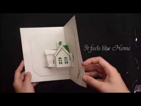 Origamic Architecture Tutorial- How to Make a House Pop-Up Card
