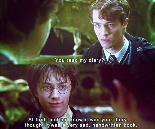 At first I didn't know it was your diary...