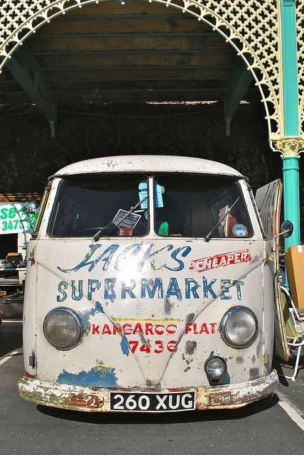 'Jacks cheaper supermarket' #Volkswagen #T1 bus.