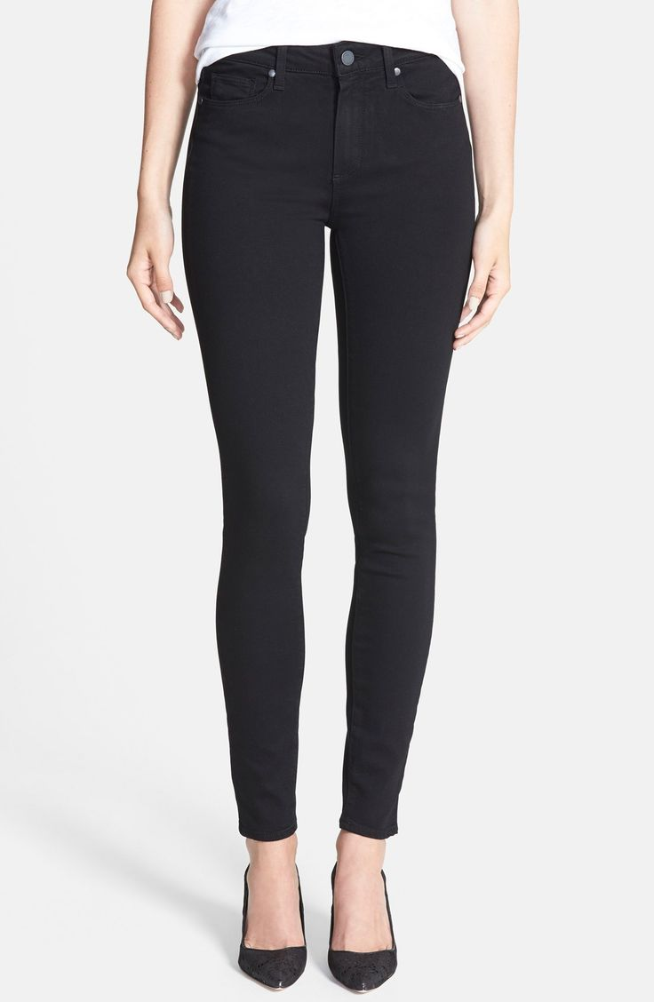 Just got these: Paige Denim 'Transcend - Hoxton' High Rise Ultra Skinny Stretch Jeans (Black Shadow)