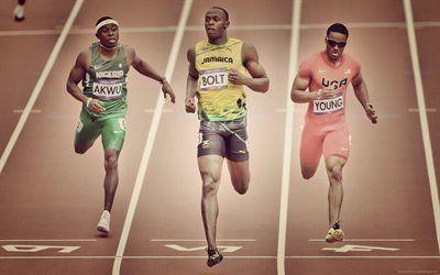 Scarica sfondi atleta giamaicano, usain bolt, il campione olimpico