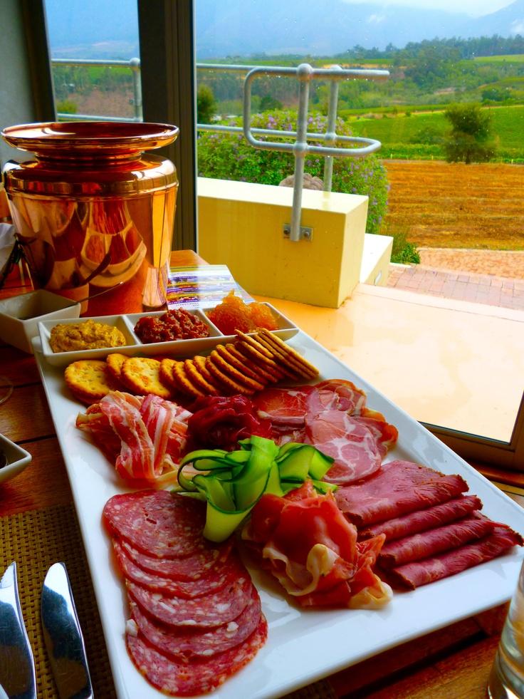 Meat platter from Guardian Peak, Stellenbosch