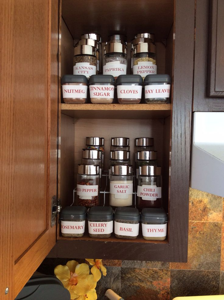 1000 Ideas About Spice Cabinet Organize On Pinterest