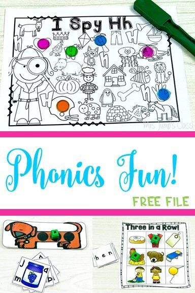 Alphabet, Phonemic Awareness, and Phonics Activities Free file included