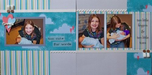 Scrapbook layout using CMTH's Dotty For You collection
