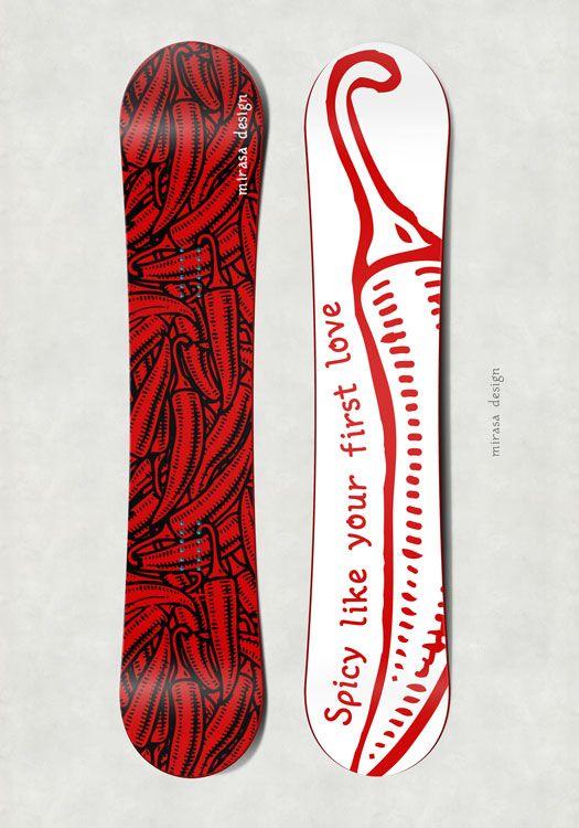 #snowboard #design #mirasa #spicy #first #love #pepper #chili
