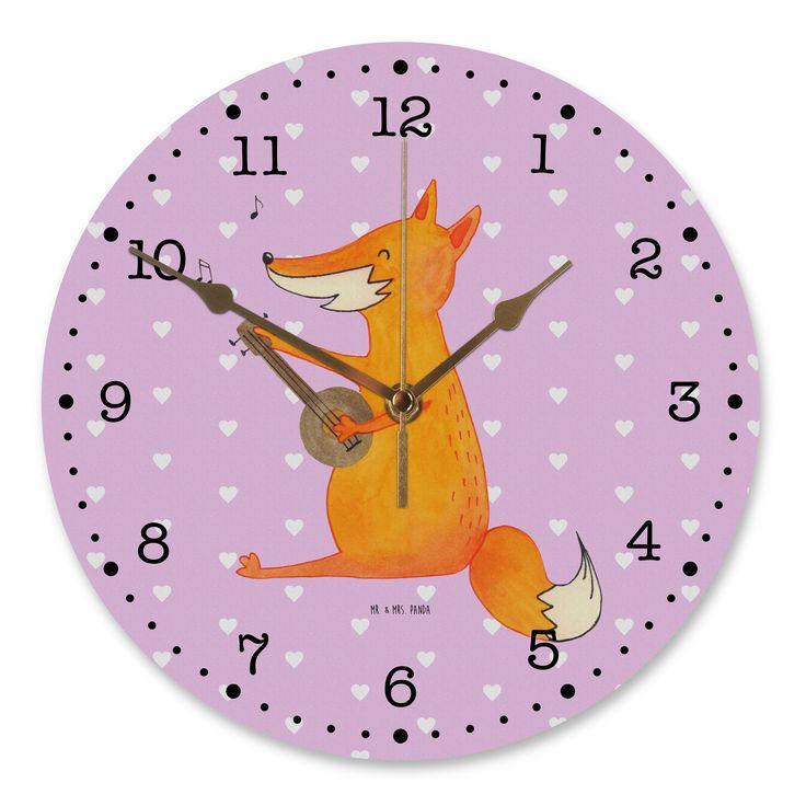 30 cm Wanduhr Fuchs Gitarre aus MDF  Weiß - Das Original von Mr. & Mrs. Panda.  Diese wunderschöne Uhr von  Mr. & Mrs. Panda wird liebeveoll in unserem Hause bedruckt und an sie versendet. Sie ist das perfekte Geschenk für kleine und große Kinder, Weltenbummler und Naturliebhaber. Sie hat eine Grösse von 30 cm und ein absolut LAUTLOSES Uhrwerk.    Über unser Motiv Fuchs Gitarre  Die Fox-Edition ist eine besonders liebevolle Kollektion von Mr. & Mrs. Panda. Jedes Motiv ist - wie immer bei Mr…