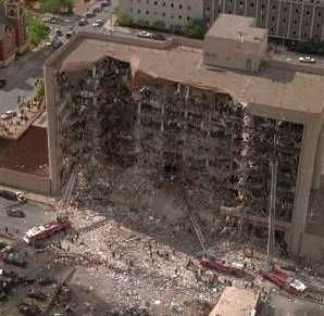 Oklahoma City bombing, April 19, 1995 at 9:02 am