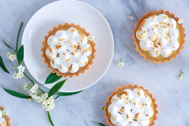 Lemon meringue taartjes - Zoetrecepten