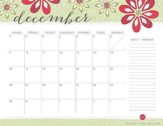 December Calendar by @EllineeDH