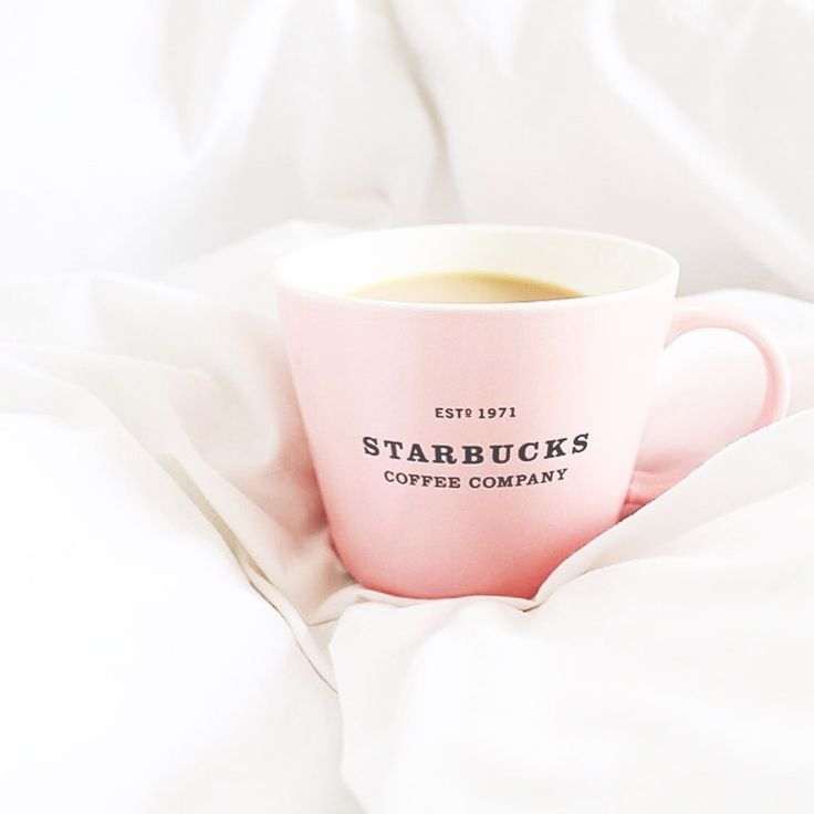 Coffee in a pastel pink mug
