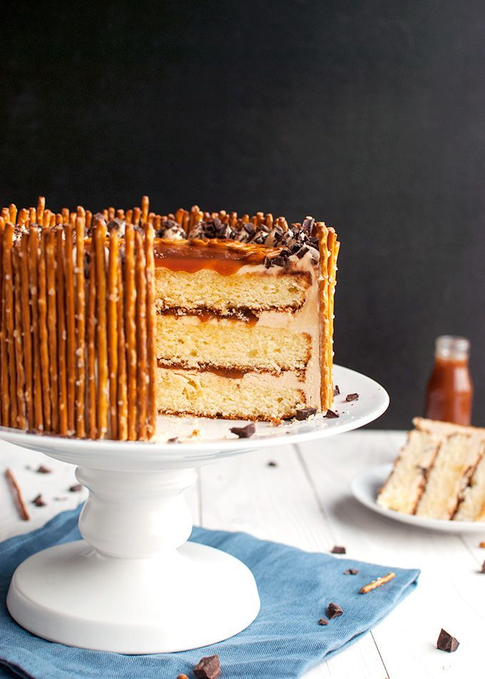 Mile High Chocolate Salted Caramel Cake Recipe