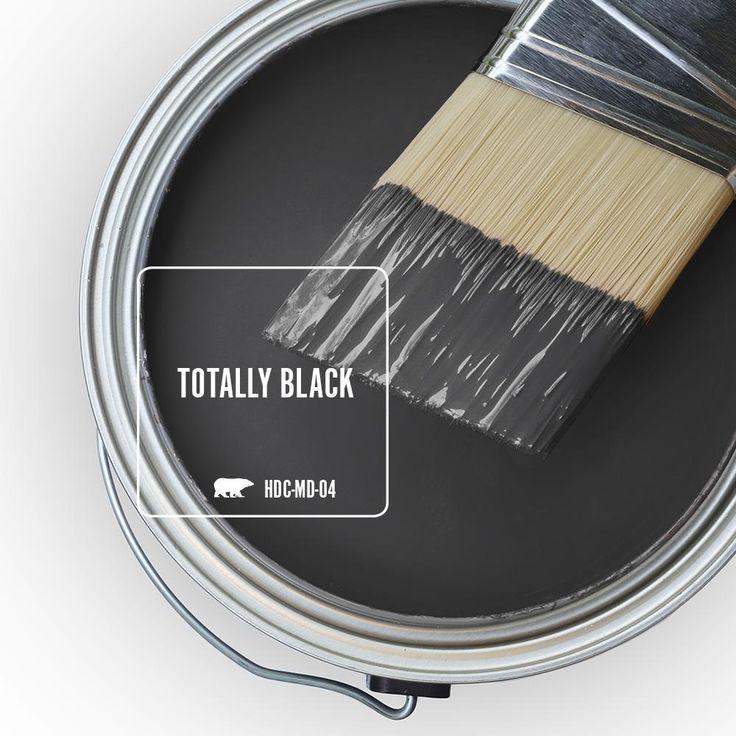Behr ultra 1 qt hdcmd04 totally black satin enamel
